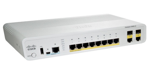 Cisco WS-C2960C-8PC-L 2960-C Series 8-Port Fast Ethernet PoE 2-Port SFP Switch