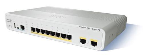 NEW Cisco WS-C2960CG-8TC-L 2960-C Series 8-Port Gigabit 2-Port SFP Switch