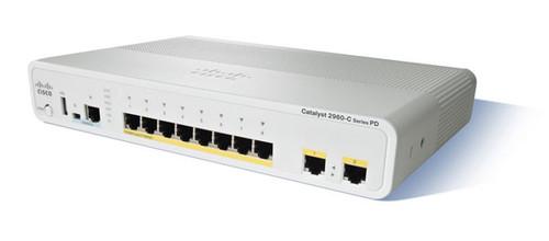Cisco WS-C2960CPD-8TT-L 2960-C Series 8-Port Fast Ethernet 2-Port GE PoE+ Switch
