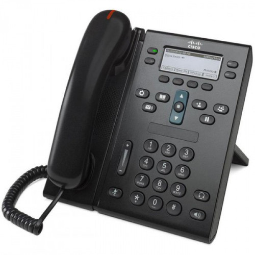 Cisco CP-6941-C-K9 4 Line Charcoal IP VOIP Phone w/Standard Handset