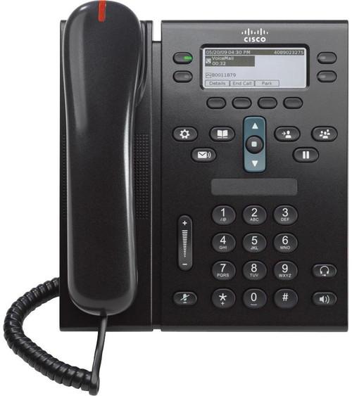 Cisco CP-6945-C-K9 4 Lines Charcoal Gigabit IP VOIP Phone w/Standard Handset