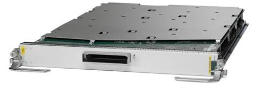 The Cisco® ASR 9000 Series 4-port Line Card and 8-port 100 Gigabit Ethernet Line Card deliver industry-leading high density, with line-rate 100 Gigabit Ethernet ports, to any slot of a Cisco ASR 9000 Series Aggregation Services Router. These high-capacity line cards are designed to remove bandwidth bottlenecks in the network that are caused by a large increase in video-on-demand (VoD), IPTV, point-to-point video, Internet video, and cloud services traffic. A single 100 Gigabit Ethernet port can now replace large 10 Gigabit Ethernet link aggregation bundles to simplify network operations. Based on Cisco CPAK™ technology, this line card has flexible interfaces that support 100 Gigabit Ethernet, 40 Gigabit Ethernet and 10 Gigabit Ethernet modes, so it gives customers the flexibility to mix and match interface types on the same line card.