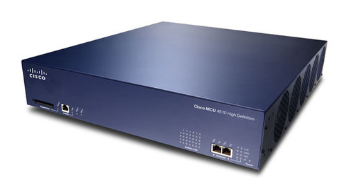 The Cisco TelePresence® MCU 4500 Series is the industry's leading full high-definition multimedia conferencing bridge. It delivers superior video and voice with an easy-to-use, versatile management interface. Compatible with all major vendors' endpoints, each model maintains its capacity and performance in every configuration, delivering the best experience for each participant, every time.  Cisco TelePresence MCU is WebEx enabled, allowing customers to enjoy fully integrated, scalable conference involving callers from WebEx clients and telepresence endpoints