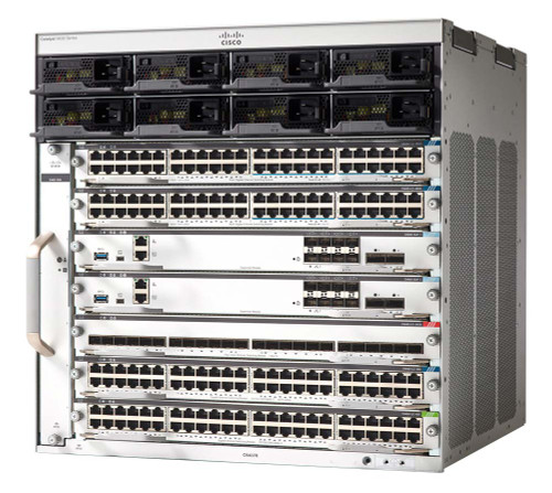 Cisco Catalyst 9400 is the next generation of the industry's most widely deployed enterprise switching platform. These modular access switches are built for security, Internet of Things (IoT), and the cloud. They deliver state-of-the-art high availability, support up to 8 Tbps, and form one of the building blocks for SD-Access, Cisco's leading enterprise architecture.