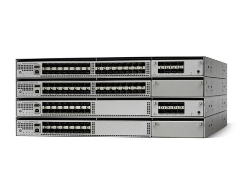 Cisco Catalyst 4500-X Series provides scalable, fixed-campus aggregation solutions in space-constrained environments. The solution provides flexibility to build desired port density through two versions of base switches along with optional network module, providing line-rate 10GE capability. Both the 32-port and 16-port versions can be configured with optional network modules and offer similar features. The Small Form-Factor Pluggable Plus (SFP+) interface supports both 10 Gigabit Ethernet and 1 Gigabit Ethernet ports, allowing customers to use their investment in 1 Gigabit Ethernet SFP and upgrade to 10 Gigabit Ethernet when business demands change, without having to do a comprehensive upgrade of the existing deployment. The uplink module is hot swappable.