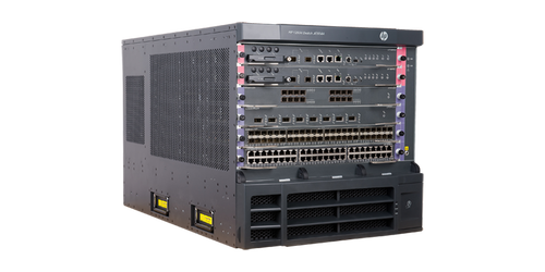 The HP 12504 Switch Chassis is an 4-slot AC-powered modular next-generation switching platform that delivers the scalablity and performance needed in the data center.