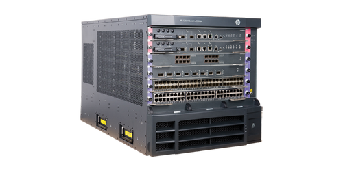 The HP 12504 Switch Chassis is an 4-slot DC-powered modular next-generation switching platform that delivers the scalablity and performance needed in the data center