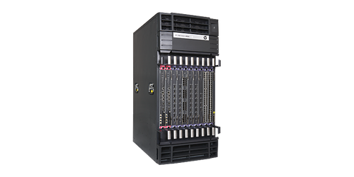 The HP 12518 Switch Chassis is an 18-slot AC-powered modular next-generation switching platform that delivers the scalablity and performance needed in the data center.
