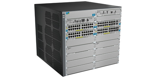 12-slot modular switch chassis with 12 open module slots; management, fabric and support modules already installed; Premimum switch software included.