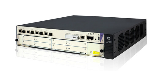The HP HSR6600 Series are high-performance services WAN routers, ideal for small-to-medium campus WAN edge and aggregation, and high-end branch, deployments.