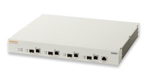 Aruba 3200XM Controller - 4x 10/100/1000BASE-T (RJ-45) or 1000BASE-X (SFP) dual personality ports, 0 AP Support.