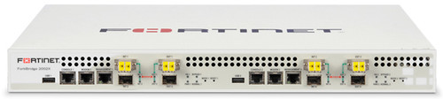 FortiBridge-2002X, power failure bypass functionality for two network segments. 4 10G SPF+, 4 10G LC , 2 RJ45 Management Ports, Dual Power Supply, Dual CP, includes 4 SR SFP+ transceivers