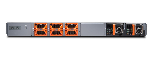 MX204 is a Juniper MX204 chassis with 3 fan trays and 2 power supplies incl. Junos. The SDN-ready MX204 Universal Routing Platform is a cloud-grade routing platform that offers you ultra-high density and throughput in a space- and power-optimized package. The MX204 addresses the emerging edge and metro Ethernet networking needs of service providers, mobile, web-scale operators, and MSOs by delivering 400 Gbps of throughput in support of high-density 10GbE, 40GbE, and 100GbE interfaces—all in just one rack unit.  Quick Spec Table 1 shows the quick spec.  SKU  MX204  Description  Juniper MX204 chassis with 3 fan trays and 2 power supplies incl. Junos  System Capacity  400 Gbps  Switch Fabric Capacity per Slot  N/A  DPCs and/or MPCs per Chassis  Built-in  Chassis per Rack  42  Dimensions (W x H x D)  17.6 x 1.75 x 18.7 in (44.7 x 4.45 x 47.5 cm)  Mounting  Four-post rack  Product Details Figure 1 shows the front panel of MX204 chassis.