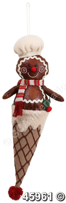 "[45961] 16""gingerbread creman hanger (boy)"