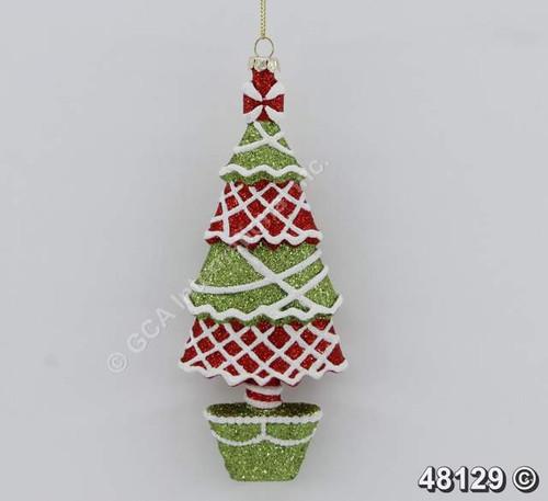 "Ship ASAP [48129]  7""plastic Christmas tree ornament"