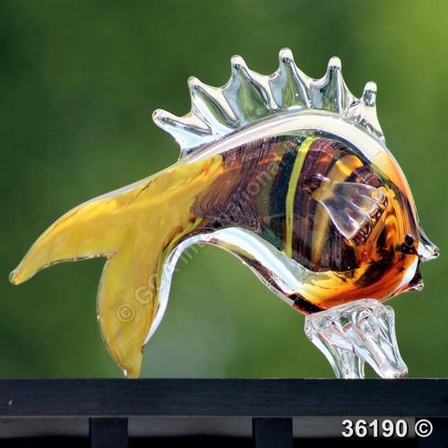 "[36190] 7"" glass fish"