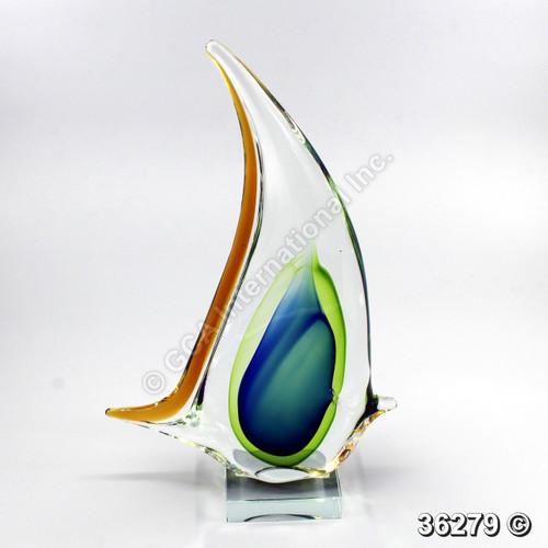 "[36279] 12.75"" glass angel fish"