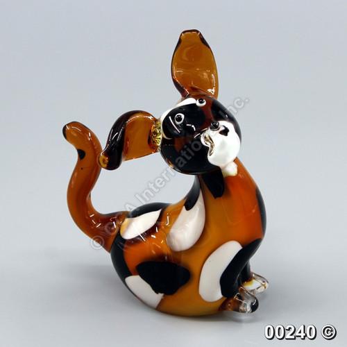 "[00240] 6.25"" glass dog"