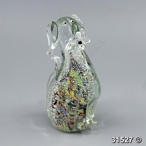"[31527] 8"" glass dog"