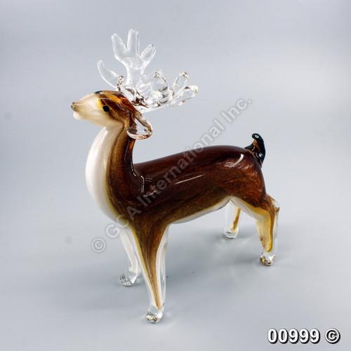 """[00999] 10.5"""" glass deer"""