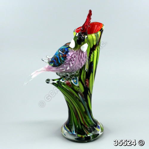 "[35524] 12.5"" glass bird"