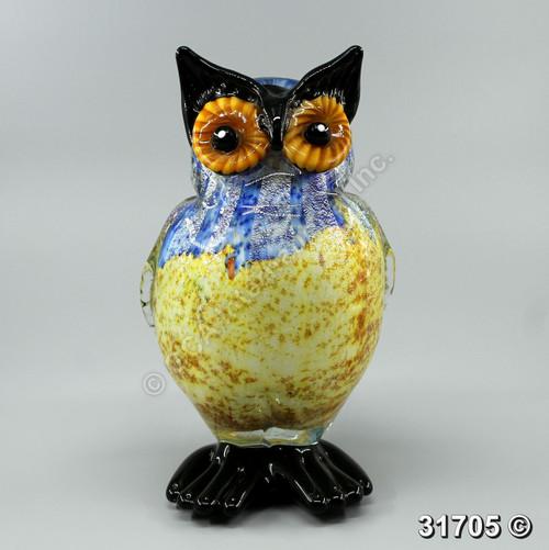"""[31705] 12"""" glass owl"""