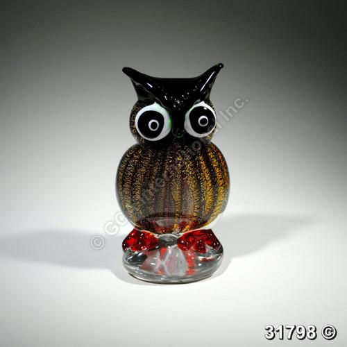 """[31798] 6"""" glass owl"""