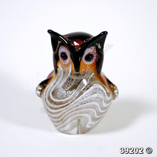 """[39202] 5.75"""" glass owl"""