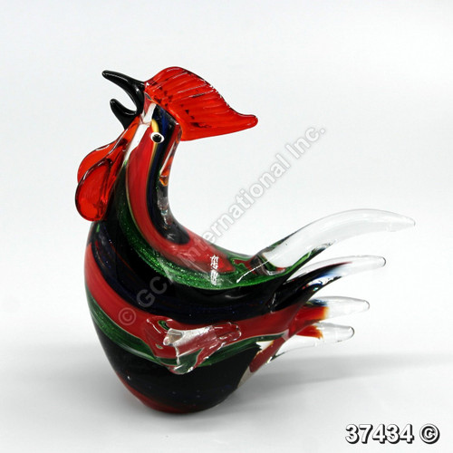 """[37434] 7.5"""" glass rooster"""