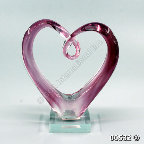 "[00532] 8"" glass heart"
