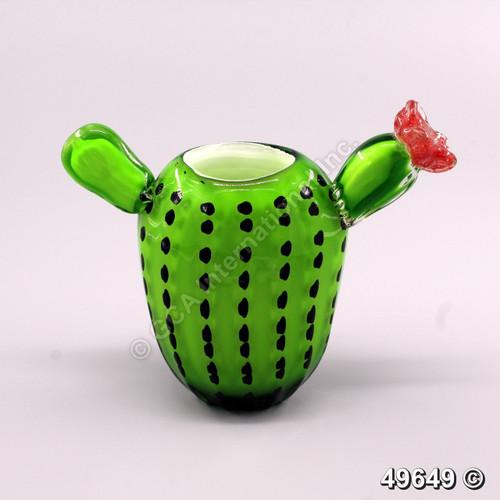 """[49649] 7.5"""" glass cactus"""