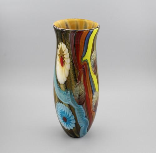 """[00252] 15.4"""" glass vase"""