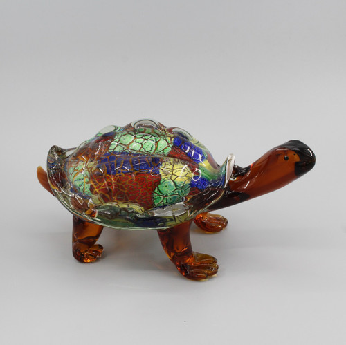 "[00632] 11.4""glass turtle"