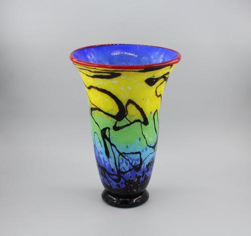 """[00650] 14.2"""" glass vase"""