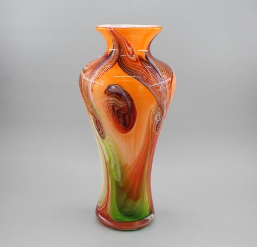 """[00652] 16.5"""" glass vase"""