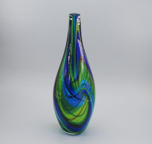 """[00653] 15.7"""" glass vase"""