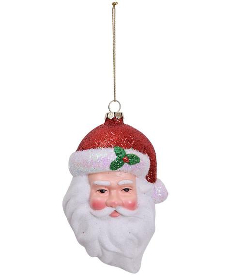 "Ship ASAP [43697] 5x3x2.5"" plastic santa ornament"
