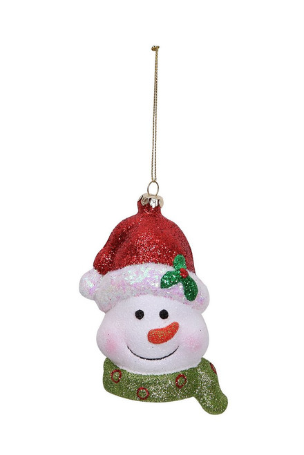 "Ship ASAP [43710] 3""x4""x4.5""plastic snowman ornament"