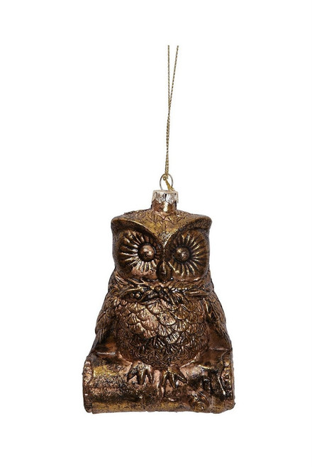 "Ship ASAP [43791] 2""x3""x4.5""plastic gold owl ornament"