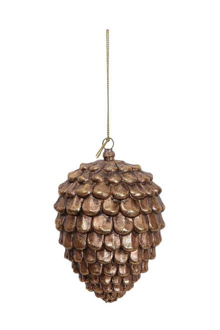"""Ship ASAP [43793] 3""""x3""""x4.5""""plastic gold pine cone ornament"""