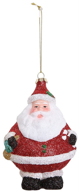 "Ship ASAP [45497] 5.3""plastic santa ornament"