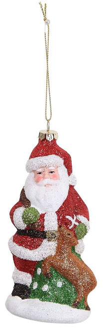 "Ship ASAP [45499] 5.3""plastic santa ornament"