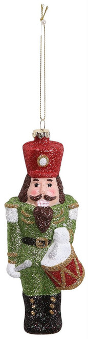 "Ship ASAP [45504] 6.2""plastic nutcracker orn (green)"