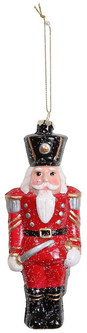 "Ship ASAP [45540] 6.2""plastic nutcracker ornament"