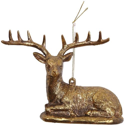 "Ship ASAP [45560] 5.5""plastic deer ornament"