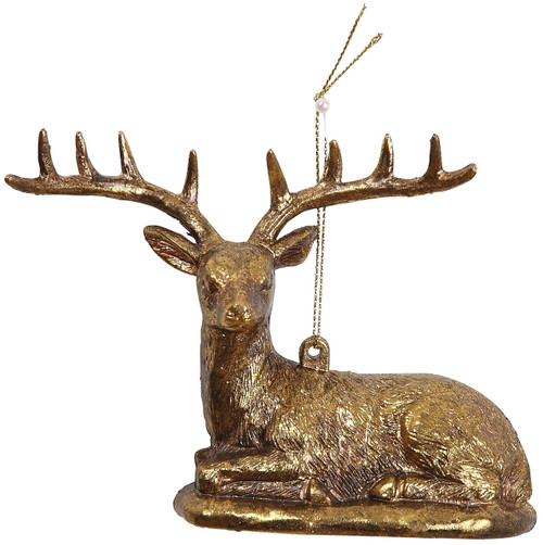 "[45560] 5.5""plastic deer ornament"