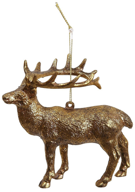 "Ship ASAP [45562] 4.3"" plastic deer ornament"