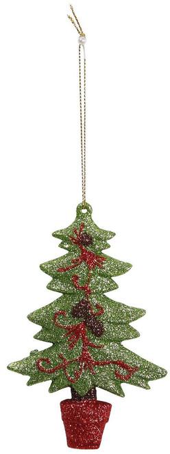 "Ship ASAP [45577] 4.7""plastic X'mas tree ornament"