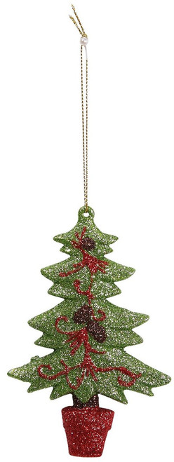 "[45577] 4.7""plastic X'mas tree ornament"