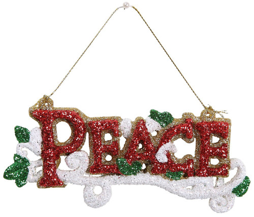 "Ship ASAP [45580] 4.7""plastic peace ornament"